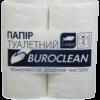 Туалетная бумага целлюлозная Buroclean, 2-х слойная, белая, 4 рулона