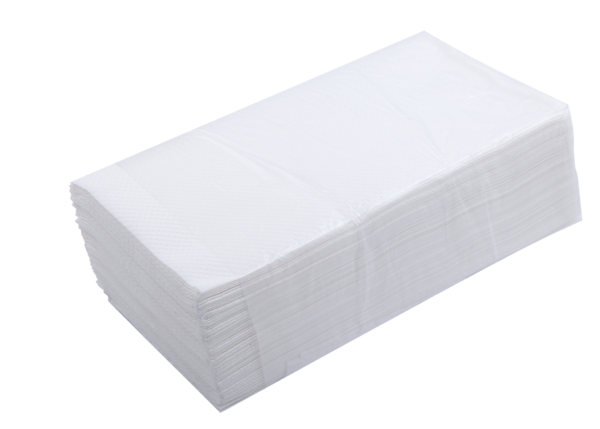 Полотенца целлюлозные V-сложение, 230х250мм, 160 шт, белые, 2-х слойные
