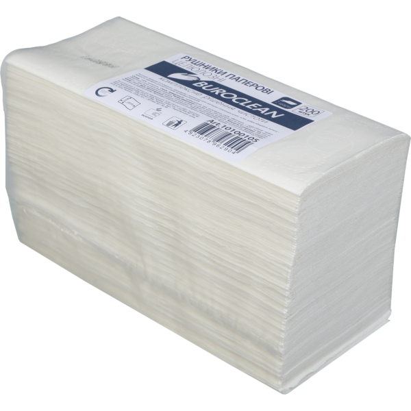 Полотенца целлюлозные V-сложение, 210х230мм,  200 шт, белые, 2-х слойные