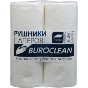 Полотенца целлюлозные  белые, Buroclean, 2 рулона