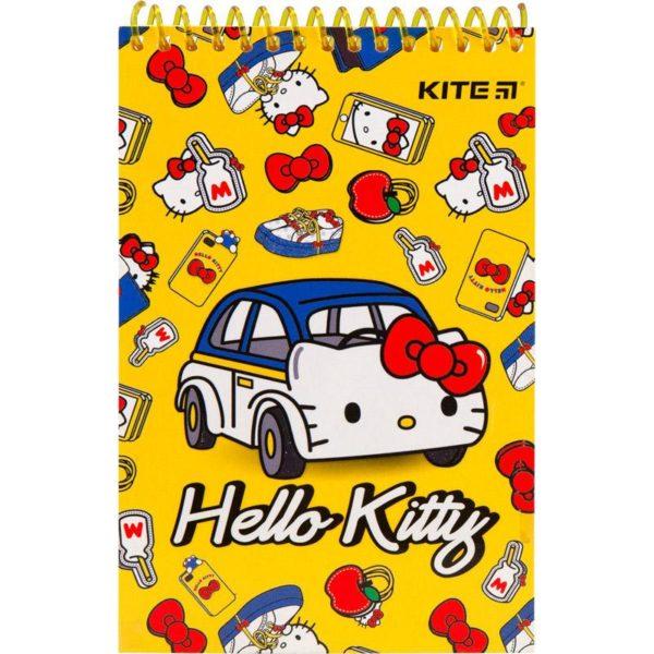 Блокнот на пружине KITE Hello Kitty А6, 48 листов, нелинованный HК19-196