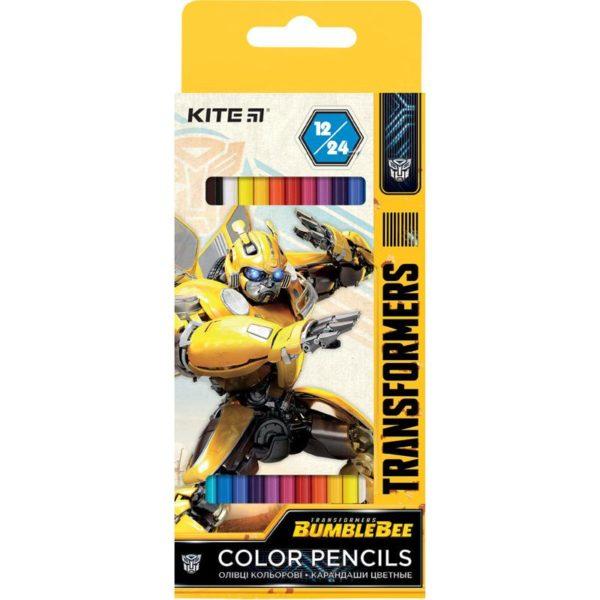 Карандаши цветные двусторонние Transformers, 12 шт. 24 цвета, TF20-054