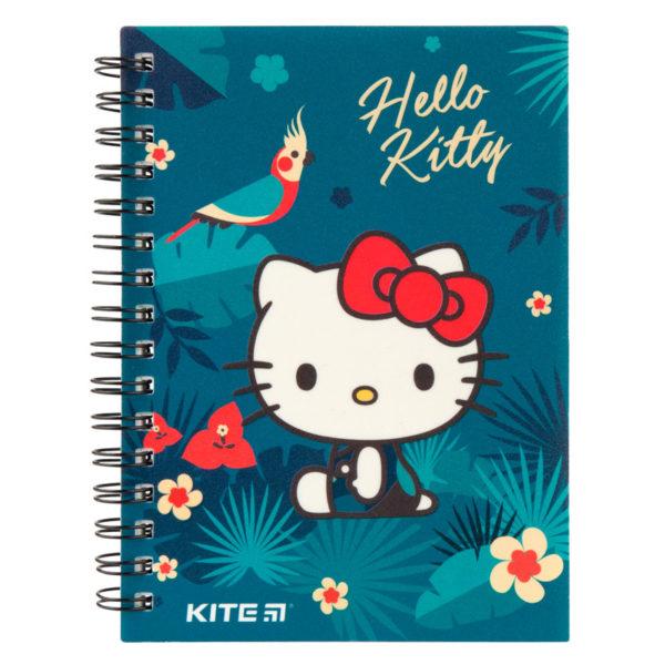 Блокнот на пружине Kite Hello Kitty А6, 80 листов, клетка HK19-226