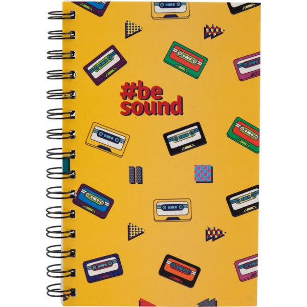 Блокнот на пружине Kite Be Sound-1 А5, 80 листов, клетка  K19-197-1