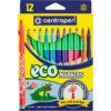 Фломастеры CENTROPEN Еко, 12 цветов, картонная упаковка 2560/12
