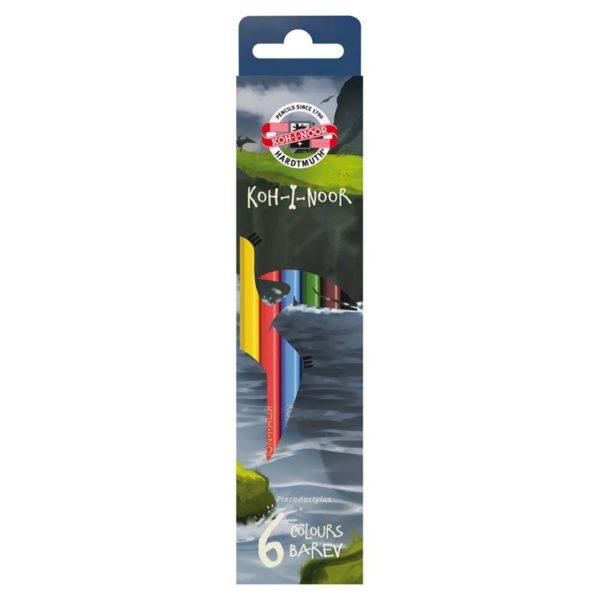 Карандаши цветные KOH-I-NOOR Dino, 6 цветов, 3591006007KS