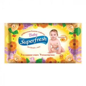 Салфетки влажные детские SuperFresh 60шт