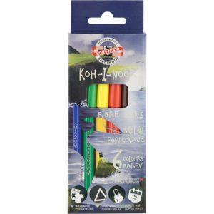 Фломастеры KOH-I-NOOR, Dino 6 цветов, картонная упаковка 1002/6