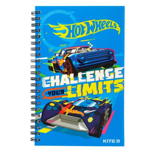 Блокнот на пружине Kite Hot Wheels А5, 80 листов, клетка HW19-225
