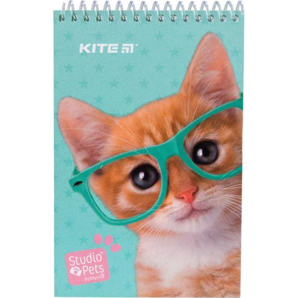 Блокнот на пружине KITE Studio Pets А6, 48 листов, нелинованный SP19-196-1