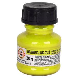Тушь художественная флуоресцентная KOH-I-NOOR, желтая, 20 г. 0141790002LP