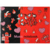 Тетрадь для нот А5, 20 листов, на скобе Kite MTV MTV20-405-2