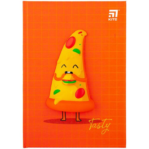 Блокнот Kite Pizza, сквиш, А5, 80 листов, клетка K20-284-3