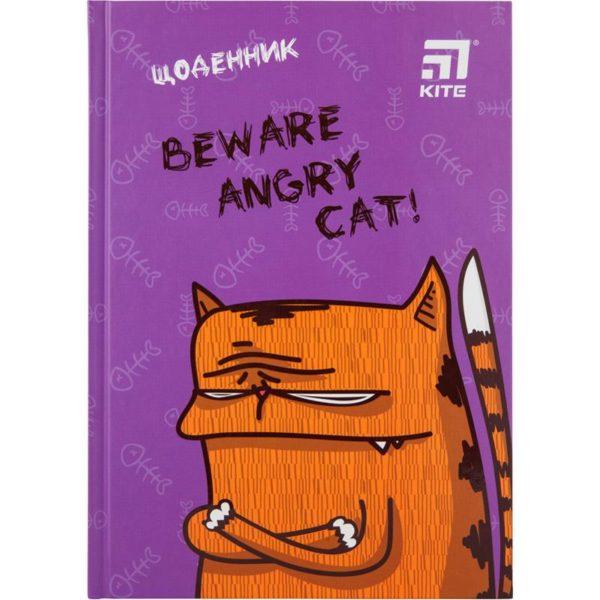Дневник школьный Angry Cat 165х230мм, твердая обложка K20-262-11
