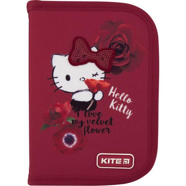 Пенал Kite Hello Kitty-1 19,5x13x3,7см, 1 отделение, 1 отворот, без наполнения HK20-621-1