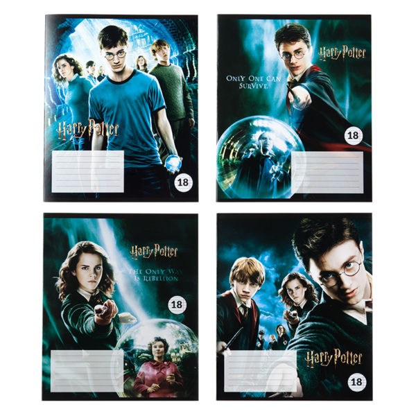 Тетрадь школьная Kite Harry Potter, 18 листов, линия HP20-237-1
