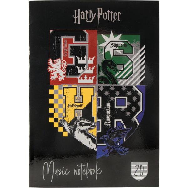 Тетрадь для нот А4, 20 листов, на скобе Kite Harry Potter HP20-404-1