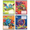 Тетрадь школьная Kite Hot Wheels, 12 листов, в косую линию, HW20-235