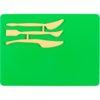Доска для пластилина со стеками, 3 инструмента, 180х250мм, зеленый K17-1140-04 39376