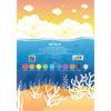 Картон цветной, односторонний Kite А4, 10 листов, 10 цветов, K19-255 40082