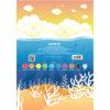 Картон цветной, односторонний Kite А4, 10 листов, 10 цветов, K19-255 40083