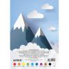 Картон цветной, односторонний Kite А5, 10 листов, 10 цветов, K17-1257 40089