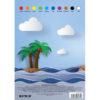 Картон цветной, односторонний Kite А5, 10 листов, 10 цветов, K17-1257 40090