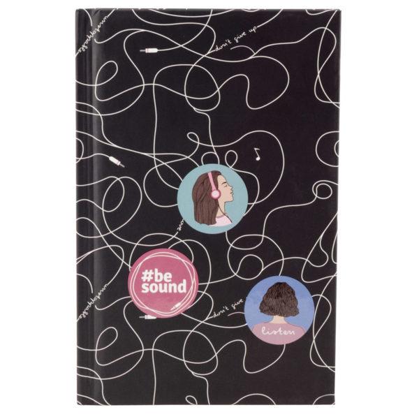 Записная книжка детская Kite BeSound K19-199-8, А6, 80 листов, твердая обложка, в клетку