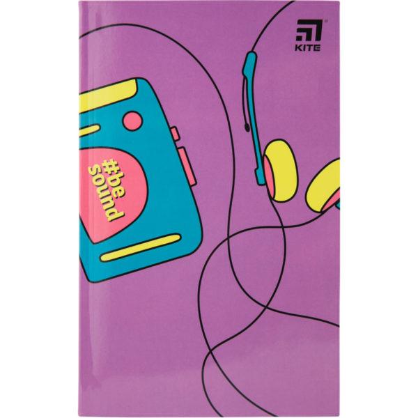 Записная книжка детская Kite BeSound K20-260-1, В6, 80 листов, гибкая обложка, в клетку