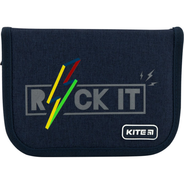 Пенал Kite Rock it 19,5x13x3,7см, 1 отделение, 2 отворота, без наполнения K20-622-10