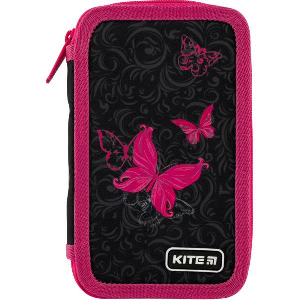 Пенал Kite Butterfly tale 19,5×12,5×4 см, 2 отделения, без наполнения K20-623-3