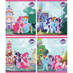 Тетрадь школьная Kite My Little Pony, 12 листов, в косую линию, LP19-235