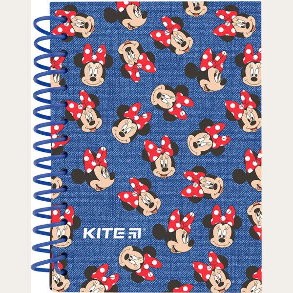 Блокнот на пружине Kite Minnie А6, 80 листов, нелинованный MI19-222