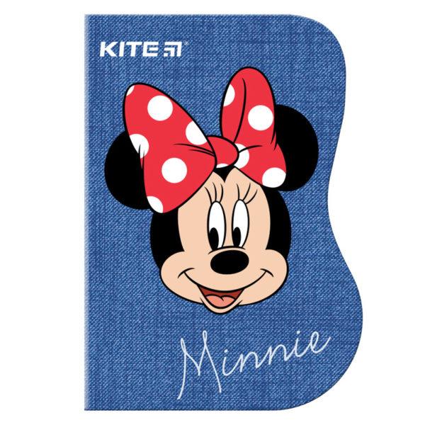 Блокнот с фигурной вырубкой А6 Kite Minnie MI19-223, 60 листов, клетка