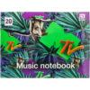 Тетрадь для нот А5, 20 листов, на скобе Kite MTV MTV20-405-1