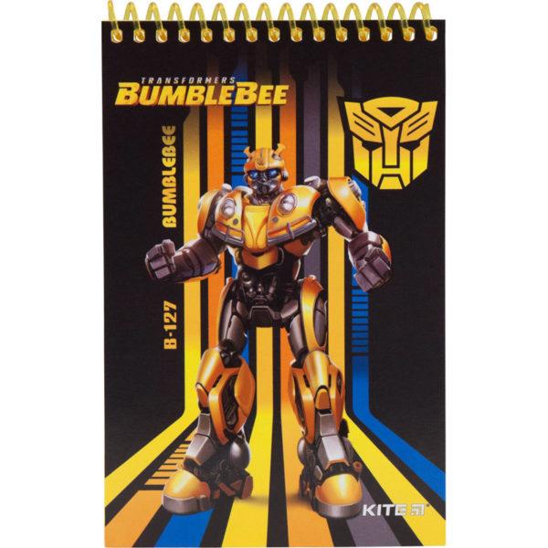 Блокнот на пружине KITE Transformers А6, 48 листов, нелинованный TF19-196