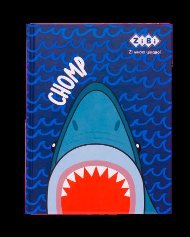 Блокнот KIDS Line SEA, А5, 64 листа, клетка, твердая обложка, синий ZB.12752-02
