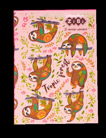 Блокнот KIDS Line PATTERN, 150 x 202 мм, 64 листа, клетка, мягкая обложка, розовый ZB.12767-10