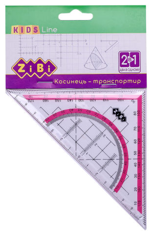 Угольник KIDS Line 2 в 1, 140мм, 90°45°, блистер, ZB.5623