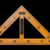 Угольник KIDS Line TEACHER  90°/45° для школьной доски 50 см, желтый, ZB.5639