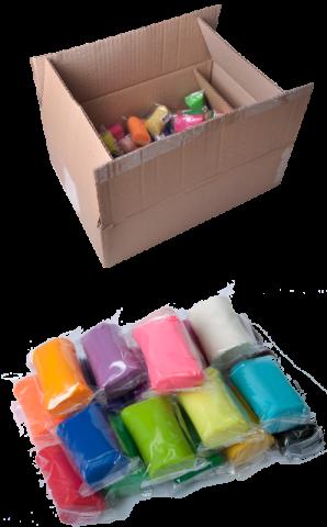 Тесто для лепки BABY Line 50 шт. по 50 г, 30 цветов, в гофрокартоне ZB.6257