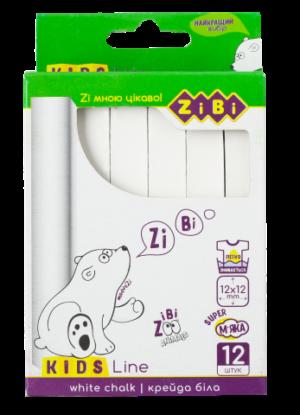 Мел белый квадратный KIDS Line 12 шт. картонная коробка ZB.6703-12