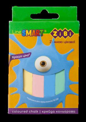 Мел цветный квадратный SMART Line 12 шт. картонная коробка ZB.6705-99