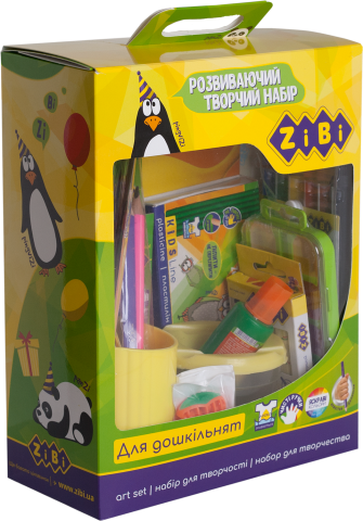 Развивающий творческий набор для дошкольников на 18 предметов ZB.9954
