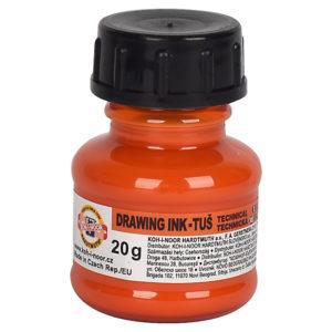 Тушь для черчения KOH-I-NOOR, 20 г, оранжевая 1417003