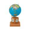 Глобус политический BLUE 10,6 см, на деревянной подставке, метеостанция, светлая вишня