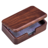 Контейнер для визиток деревянный, орех
