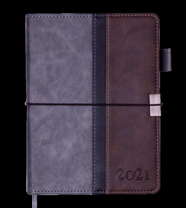 Ежедневник датированный 2021 LIBERO, A5, серый