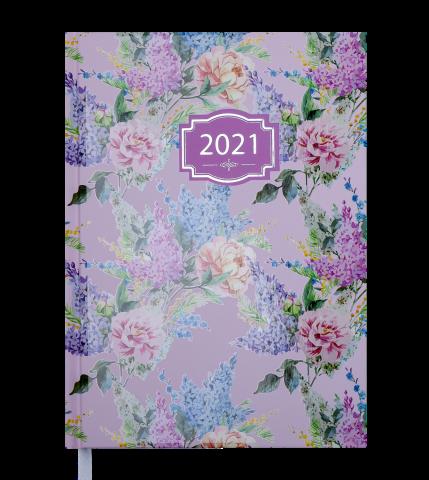 Ежедневник А5 датированный 2021 BLOSSOM зефирный