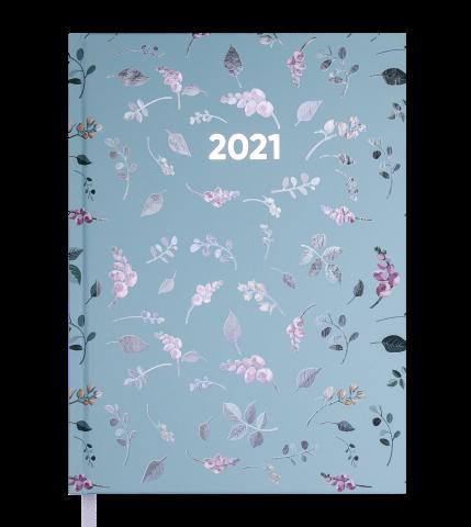 Ежедневник А5 датированный 2021 PROVENCE бирюзовый, твердая обложка